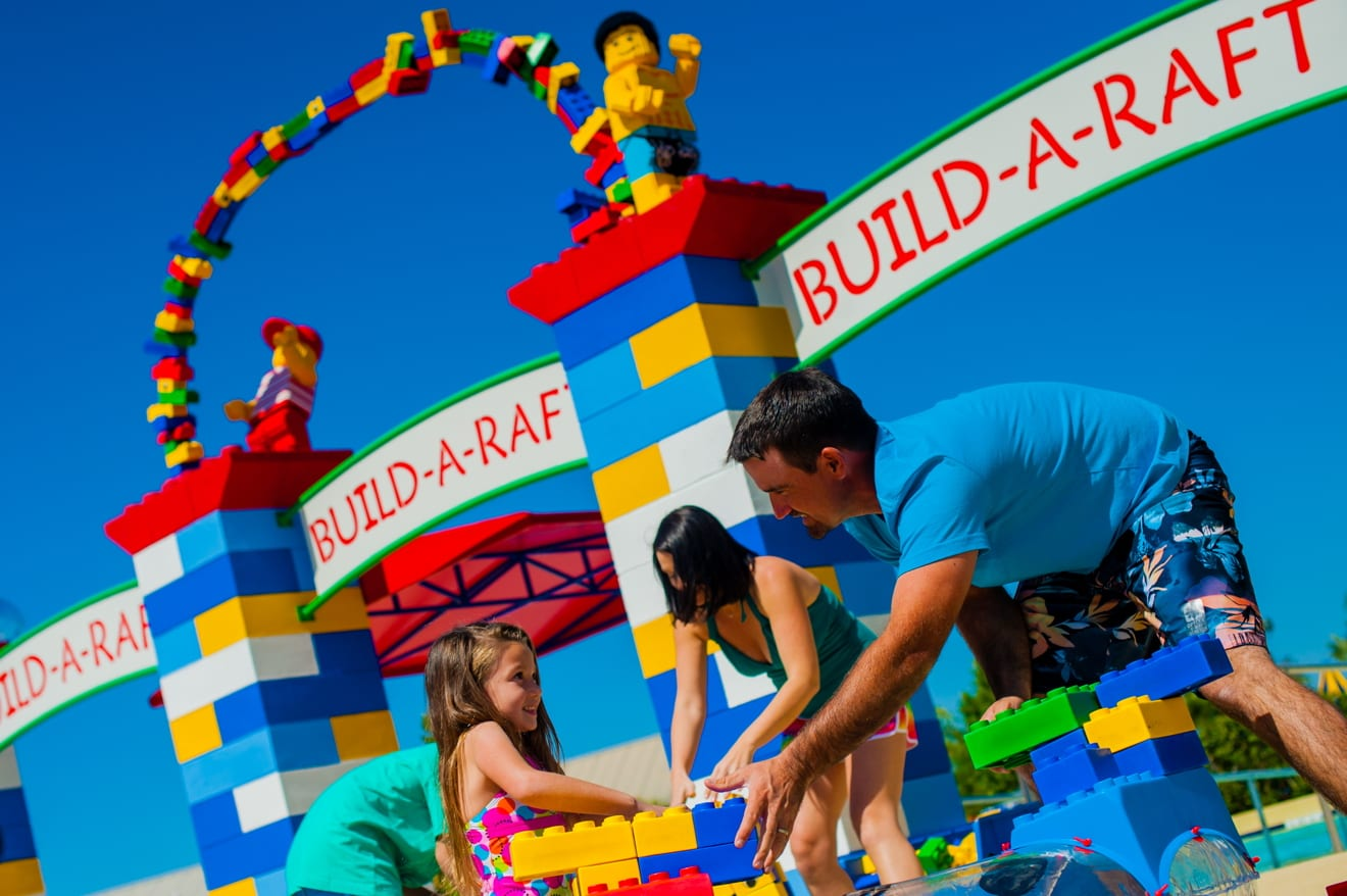 Parque Legoland Water Park em Orlando: Build-A-Raft