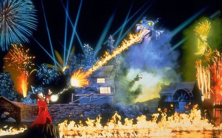 Parque Hollywood Studios da Disney Orlando: show Fantasmic!