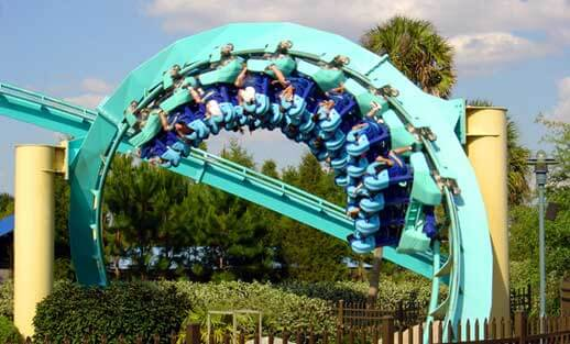 Parque SeaWorld em Orlando: montanha-russa Kraken