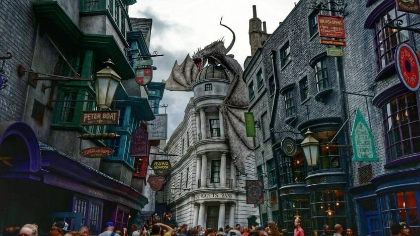 Parques e atrações do Harry Potter em Orlando: Diagon Alley (Beco Diagonal) no parque Universal Studios