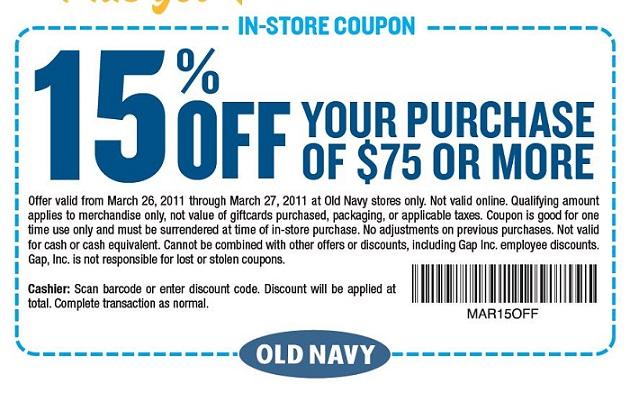 Cupons de desconto de compras em Orlando: Old Navy