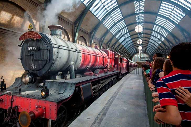 Parques e atrações do Harry Potter em Orlando: Trem Hogwarts Express do Harry Potter