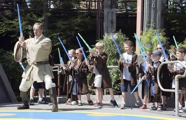 Jedi Training Academy no Disney Hollywood Studios Orlando: crianças