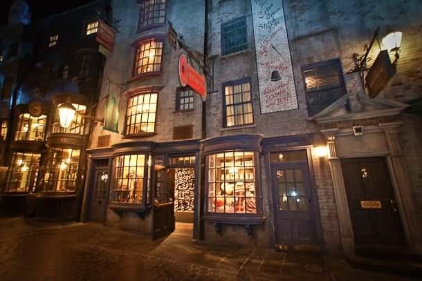 Beco Diagonal do Harry Potter em Orlando: atrações
