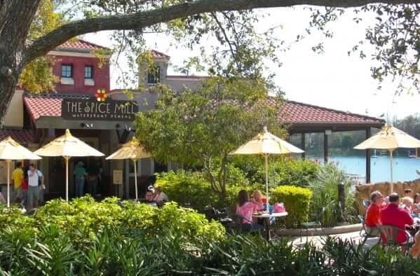Restaurantes do parque SeaWorld em Orlando: restaurante Spice Mill