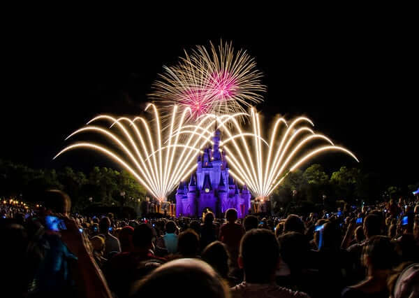 Show de fogos no Disney Magic Kingdom Orlando: show de fogos de artifício Happily Ever After