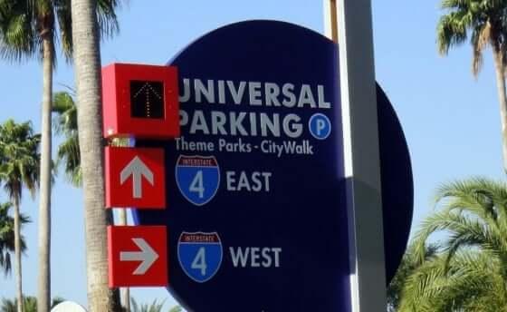 Estacionamentos dos parques em Orlando: Universal