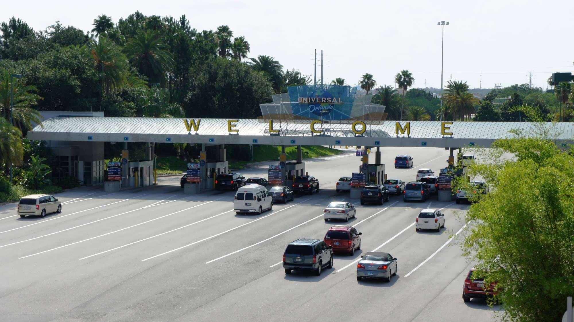 Estacionamentos dos parques em Orlando: estacionamento do parque Universal