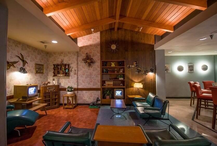 50's Prime Time Café na Disney Orlando: interior do restaurante