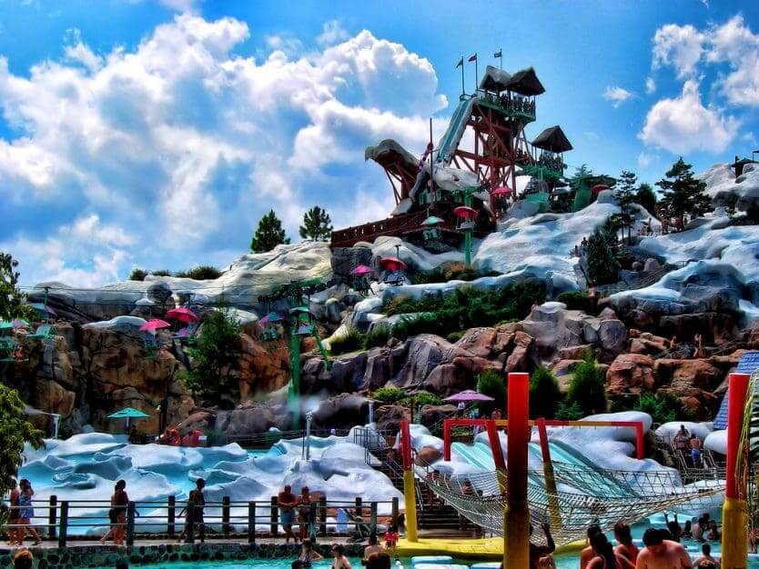 Bar do Frozen no Disney Blizzard Beach Orlando: parque Blizzard Beach da Disney