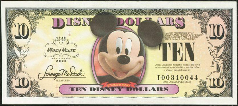 Como levar dinheiro para Orlando: disney dollars