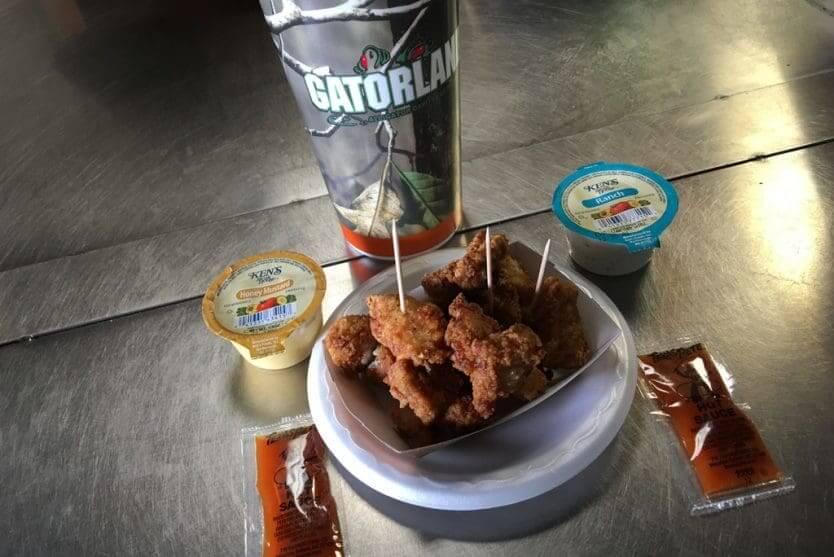 Parque dos Jacarés Gatorland em Orlando: alimentação