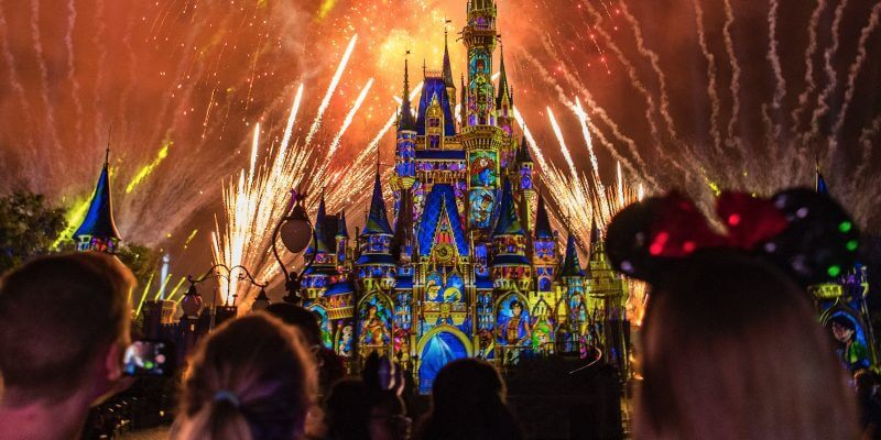 Show de fogos no Disney Magic Kingdom Orlando