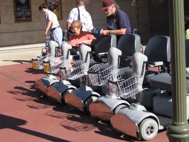 Deficientes físicos na Disney e Orlando: Veículos Elétricos de Conveniência (EVC)