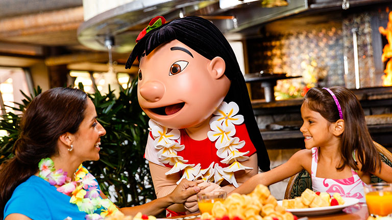 Restaurantes da Disney com personagens: Ohana