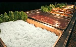 Restaurante brasileiro Camila's em Orlando: buffet