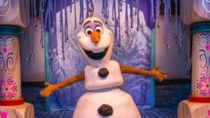 Show Mickey's Royal Friendship Faire no Disney Magic Kingdom Orlando: Olaf