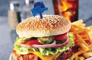 Restaurante Planet Hollywood na Disney Orlando: hamburguer
