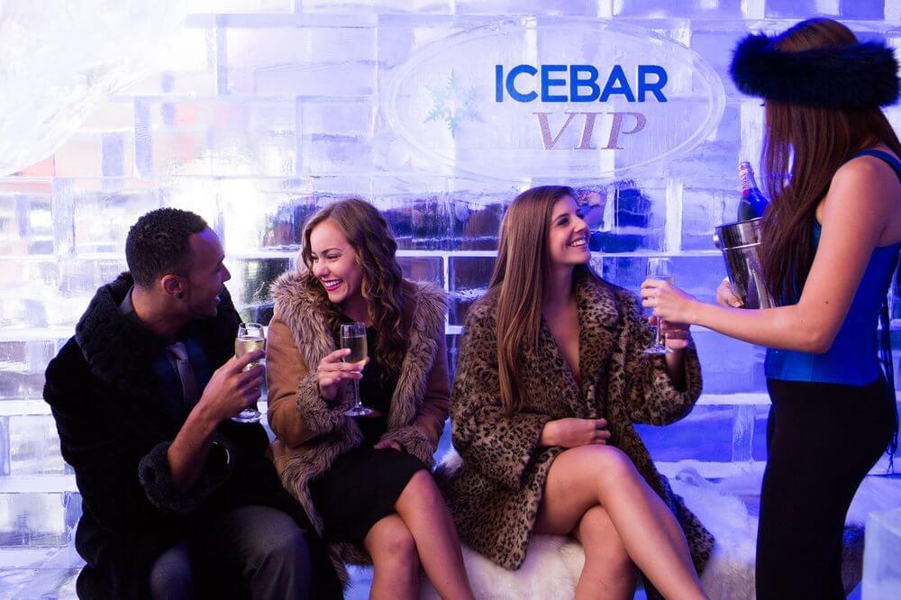 Bar de gelo IceBar em Orlando: área VIP