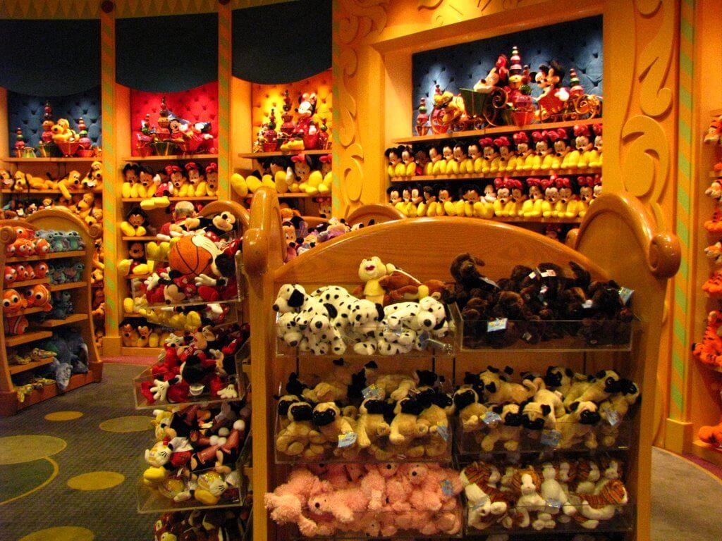 World of Disney, a maior loja Disney de Orlando: pelúcias