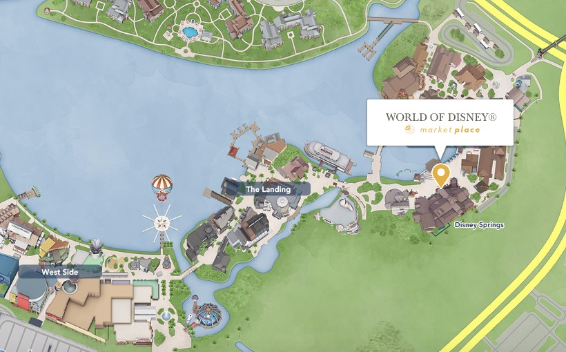 World of Disney, a maior loja Disney de Orlando: mapa