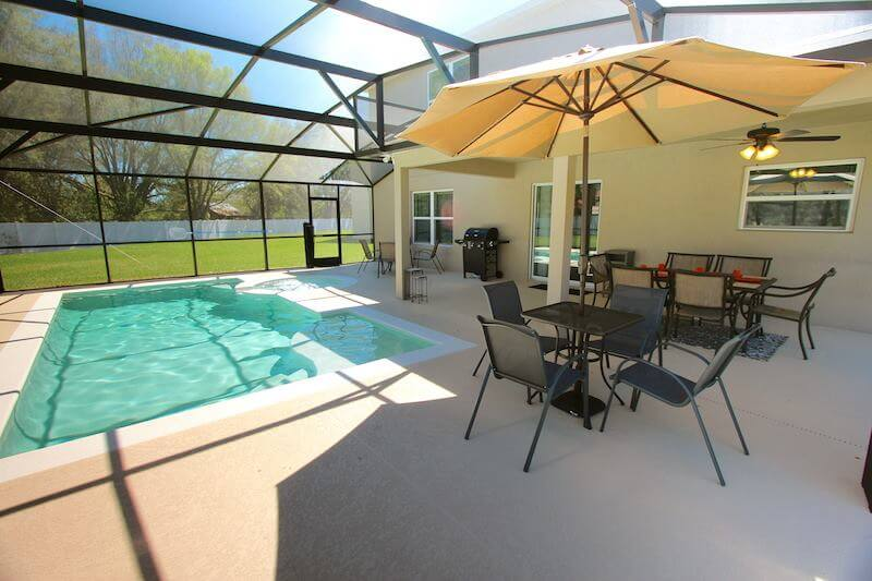 Aluguel de casa em Orlando: piscina