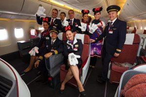 Avião da Disney da LATAM: tripulação