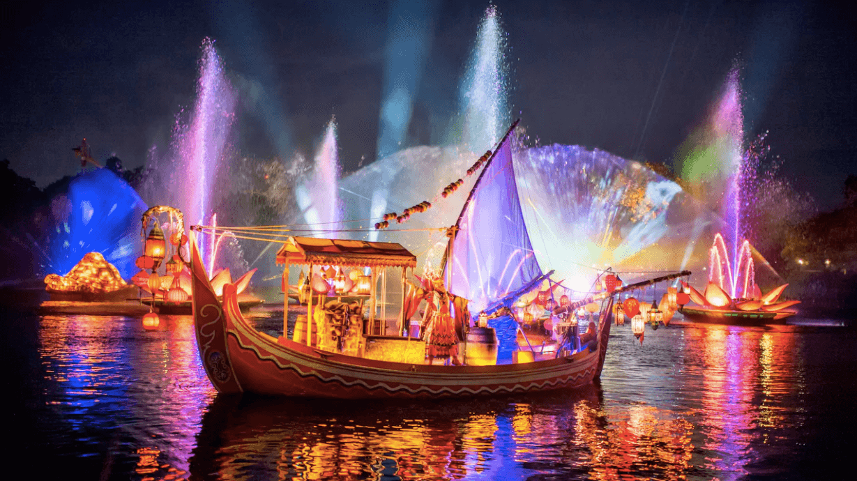 Buffet de sobremesas do show Rivers of Light na Disney Orlando