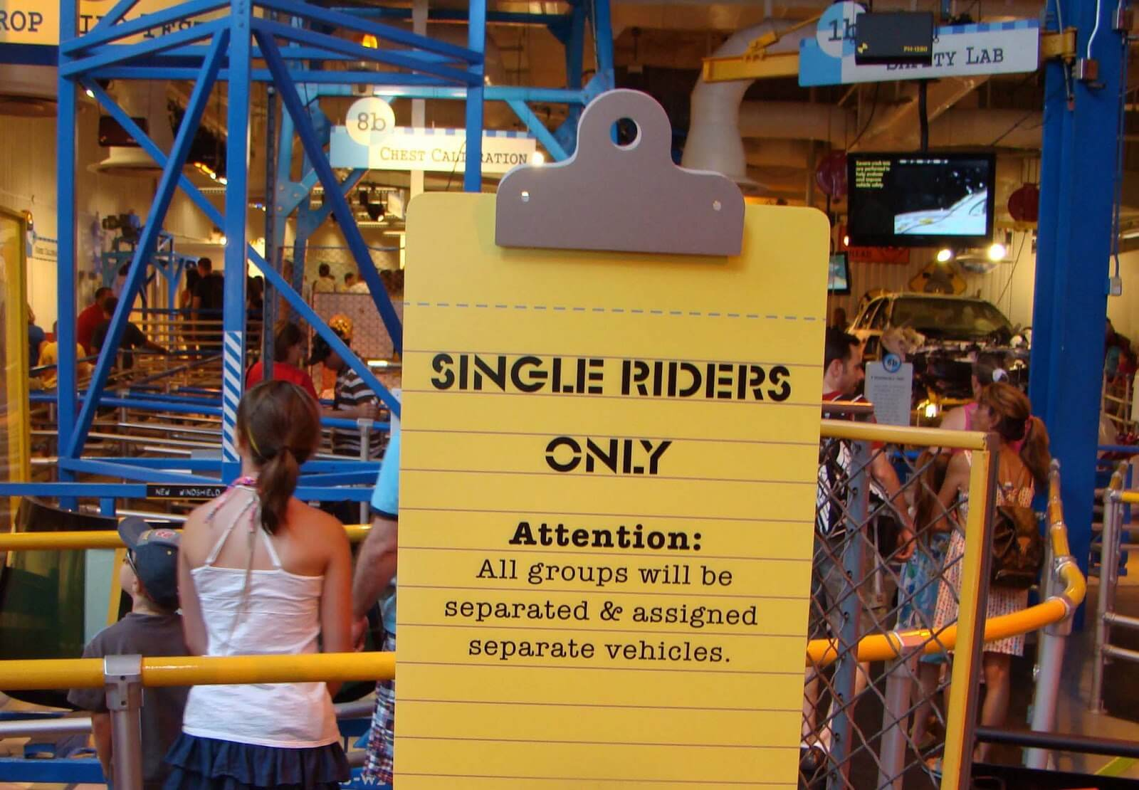 Fila Single Riders nos parques de Orlando