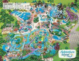 Parque Adventure Island Tampa Orlando: mapa