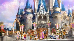 Show Mickey's Royal Friendship Faire no Disney Magic Kingdom Orlando: personagens