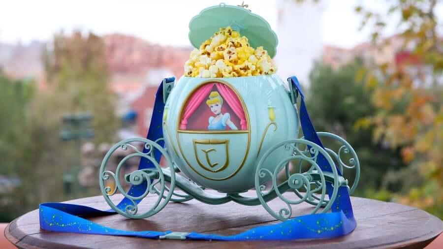 Balde de pipoca da carruagem da Cinderela na Disney