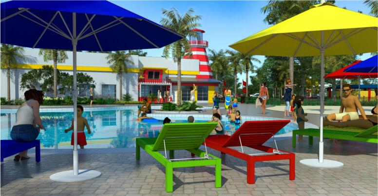 Novas atrações em Orlando para 2017: Piscina LEGOLAND Beach Retreat