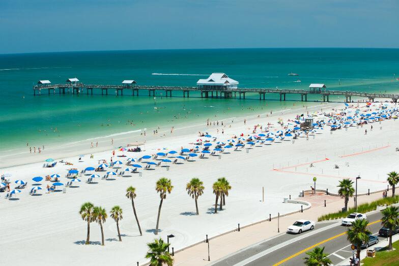 Praias próximas a Orlando: praia Clearwater