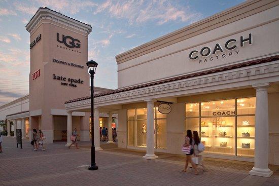 7 lojas e outlets na International Drive Orlando: Coach Factory no Premium Outlets Orlando
