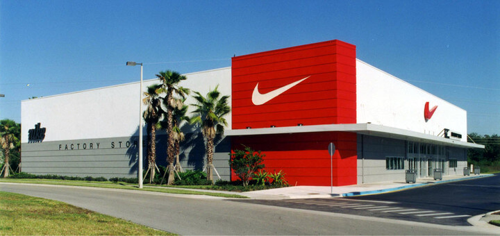 7 lojas e outlets na International Drive Orlando: Nike Factory Store nos Outlets