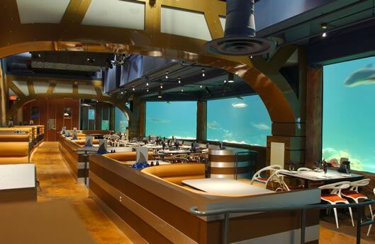 Restaurante Sharks Underwater Grill do SeaWorld Orlando