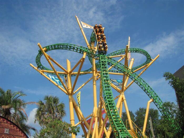 Parque Busch Gardens em Tampa: montanha-russa Cheetah Hunt