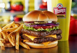 Lanchonete Wendy's em Orlando: lanche