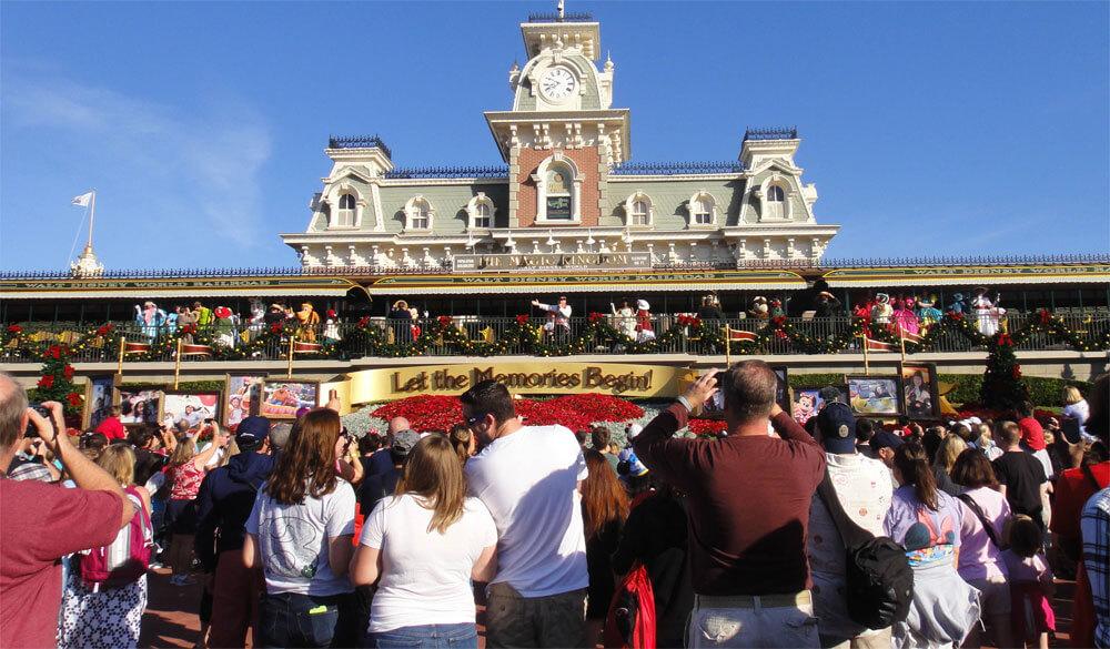 Ação de Graças na Disney - abertura da cerimônia