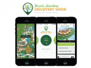 Aplicativo do Busch Gardens em Orlando