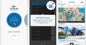 Aplicativo doSeaWorld Discovery Guide em Orlando: funções do aplicativo