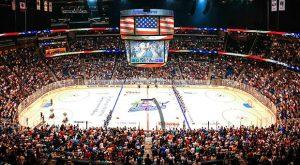Jogo de hóquei em Orlando: Amway Center