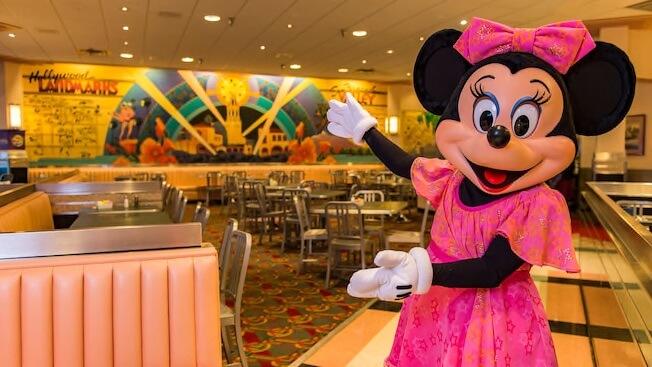 Jantares temáticos com personagens no Hollywood Studios: Hollywood & Vine em Orlando