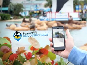 Aplicativo do SeaWorld Discovery Guide em Orlando