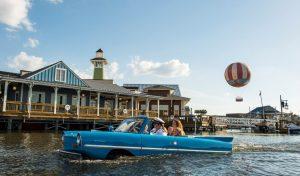 O que fazer em Disney Springs(atrações): passeio de carro-barco no BoatHouse