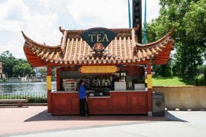 Restaurantes do parque Disney Epcot em Orlando: quiosque Joy of Tea