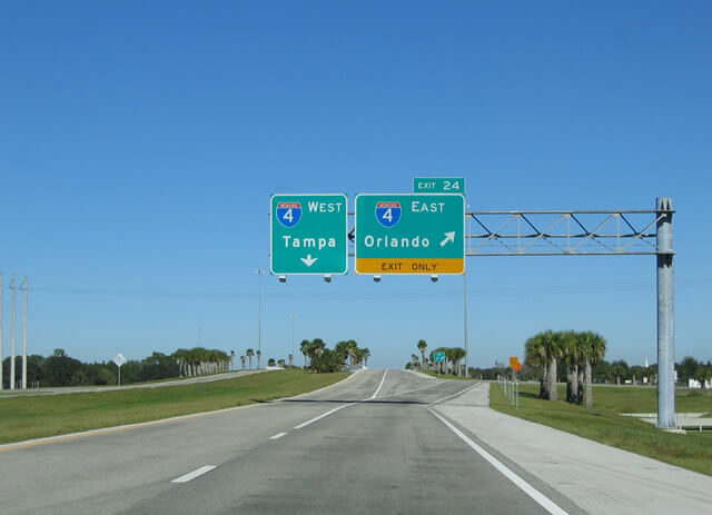 Viagem de carro de Orlando à Tampa ou de Tampa à Orlando 2