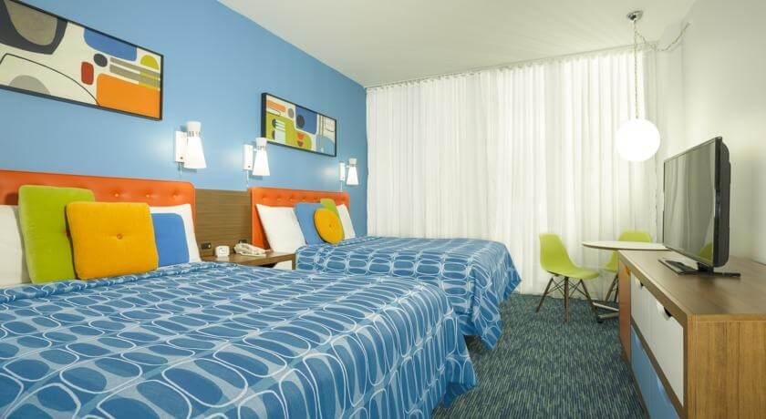 Hotel Cabana Bay Beach Resort da Universal em Orlando: quartos
