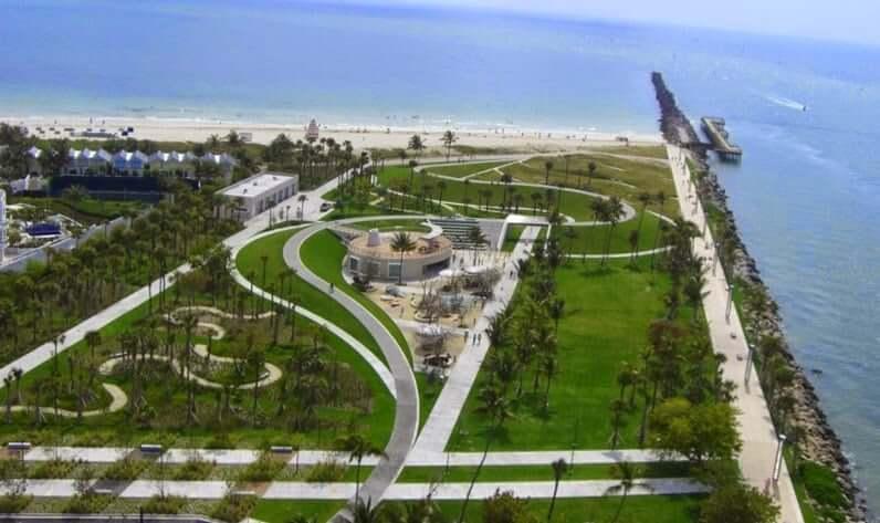 Praias em Miami: South Pointe Park